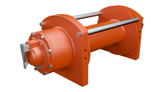 dp Winch DP20K RPW Hydraulic Planetary Gear Winch for use in light recovery on a white background
