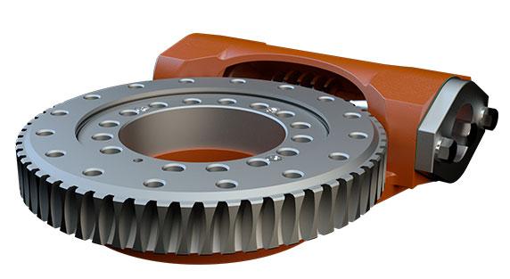 Tulsa Winch worm gear rotator on a white background
